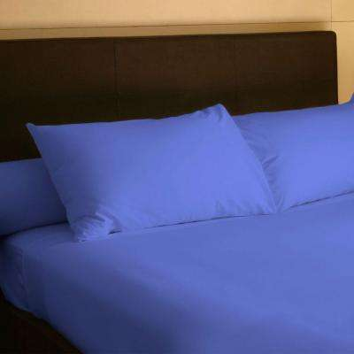 4-Piece Periwinkle 300 Count Egyptian Cotton Full Sheet Set