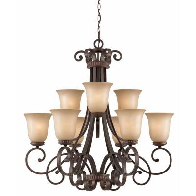 Charry 9-Light Bronze Chandelier
