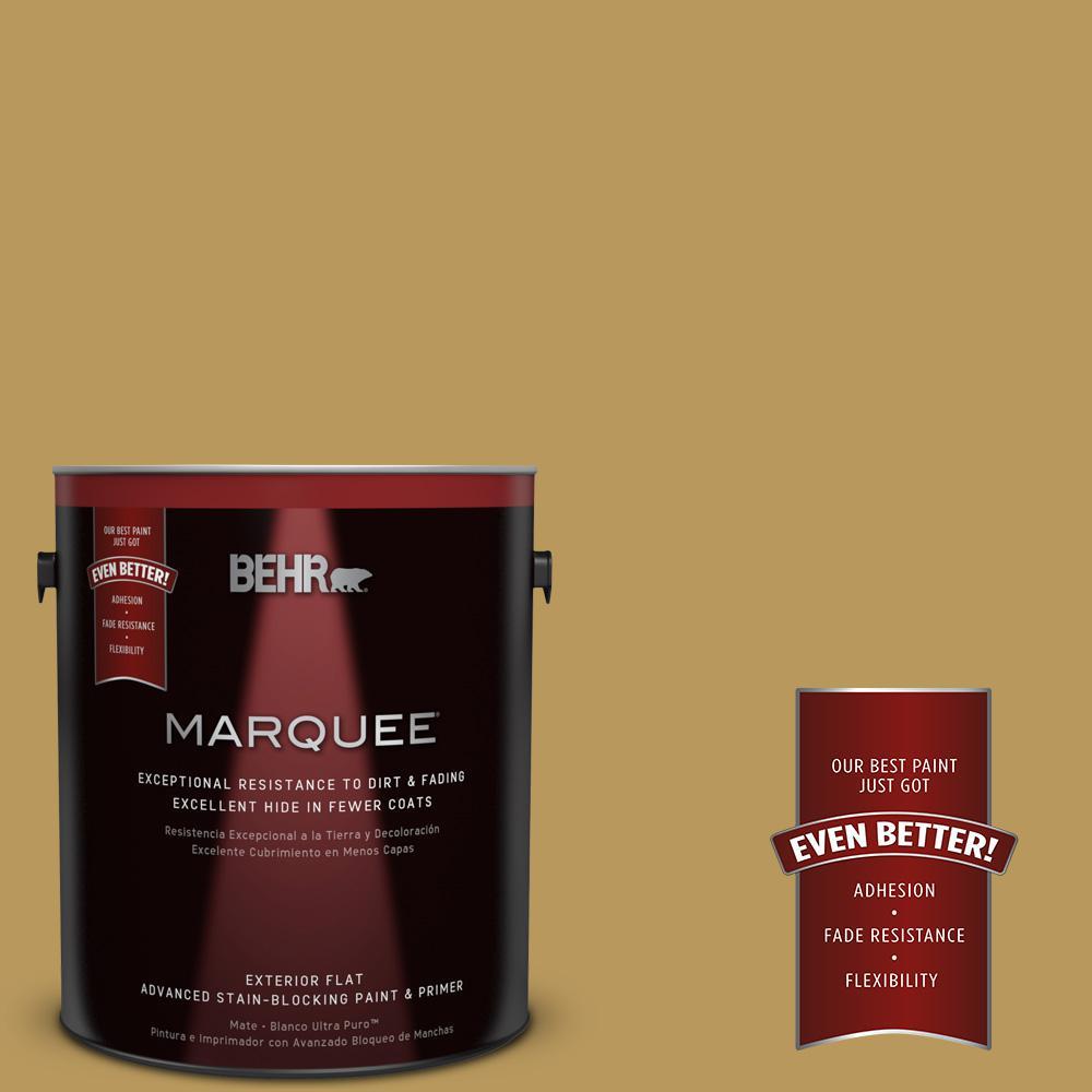 BEHR MARQUEE 1-gal. #330F-5 Golden Bear Flat Exterior Paint