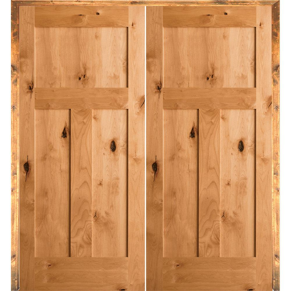 Home Depot Wood Doors: Krosswood Doors 60 In. X 80 In. Rustic Knotty Alder 3
