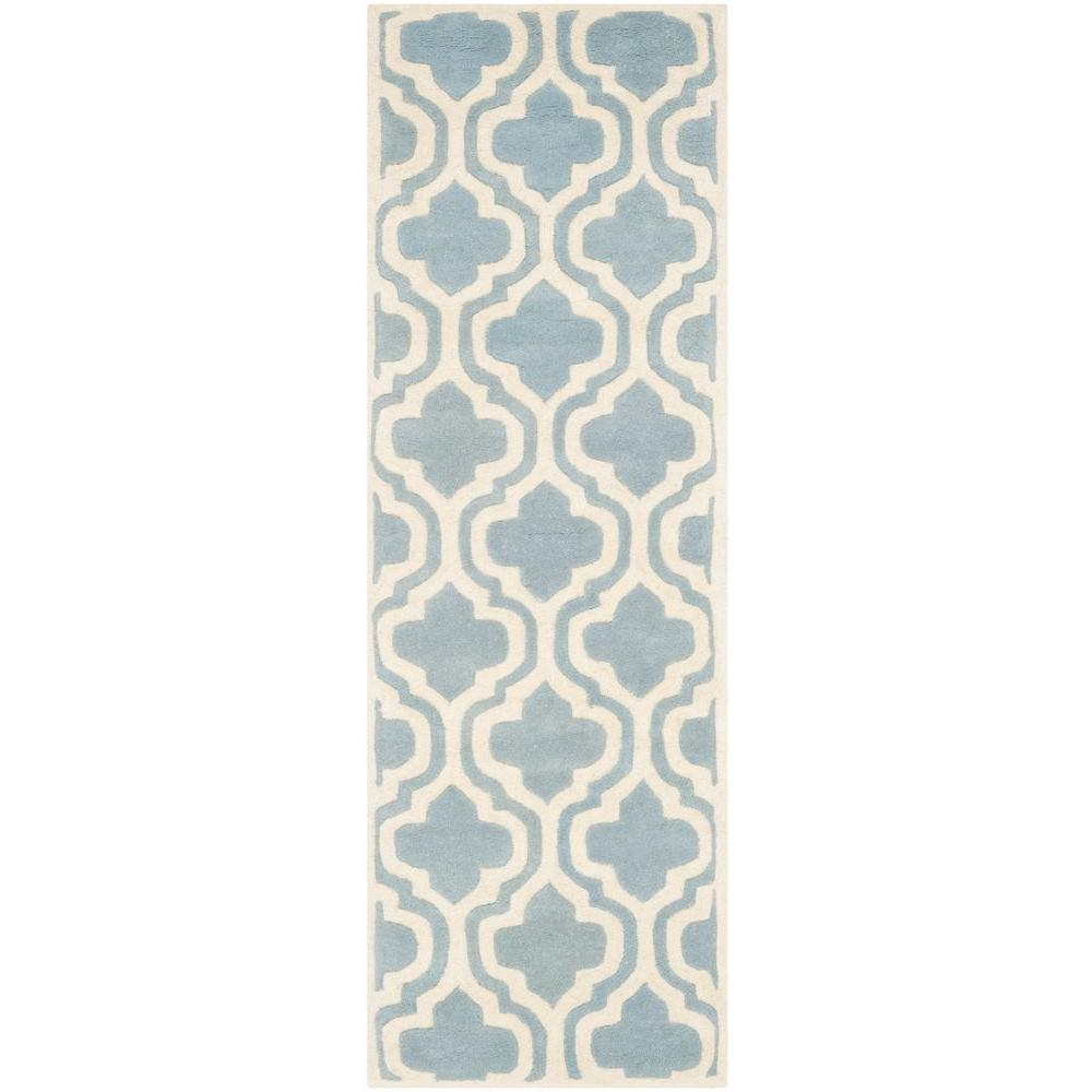 Chatham Blue/Ivory 2 ft. 3 in. x 7 ft. Runner