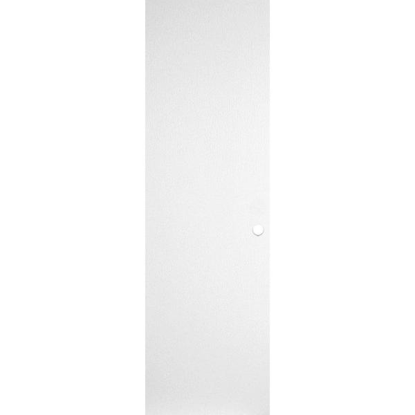 24 in. x 80 in. Primed Smooth Flush Hardboard Hollow Core Composite Interior Door Slab with Bore