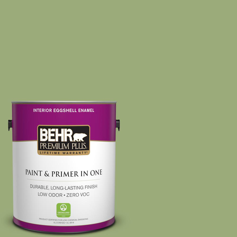 1-gal. #BIC-12 Siamese Green Eggshell Enamel Interior Paint
