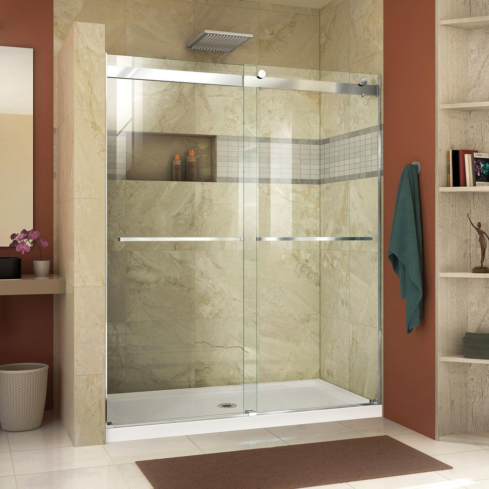DreamLine Essence 56 to 60 in. x 76 in. Semi-Frameless Sliding ...