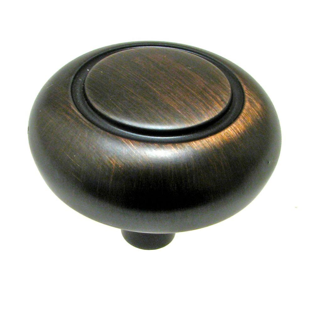 1-17/64 in. Brushed Oil Rubbed Bronze Cabinet Knob