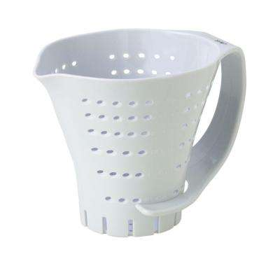 Measuring Colander in White
