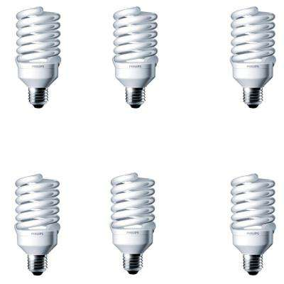 100-Watt Equivalent T2 Spiral CFL Light Bulb Soft White (2700K) (6-Pack)