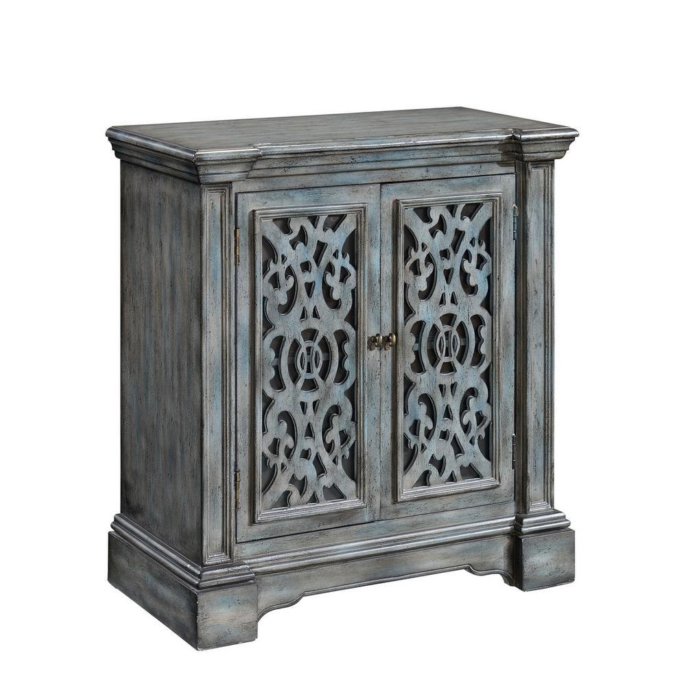Midvale Texture Grey Blue 2-Door Cabinet
