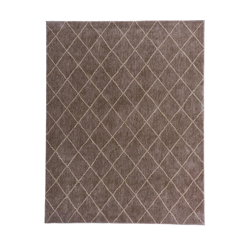 Regal Taupe Trellis 8 ft x 10 ft Rectangular Indoor Area Rug