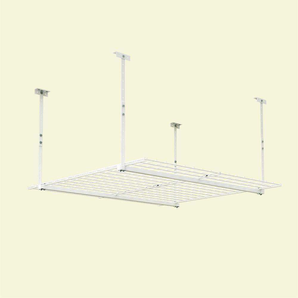Bon D Adjustable Height Garage Ceiling Mount Storage