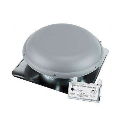 1170 CFM Gray Power Roof Mount Attic Ventilator
