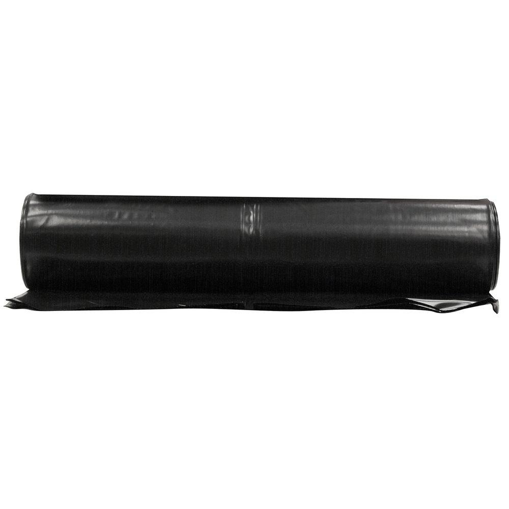 Plastic Sheeting HUSKY 12 ft x 100 ft Black 6 Mil Extra Heavy Duty Coverall