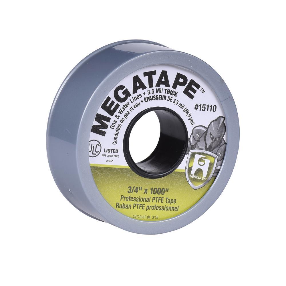 Mega Tape 3/4 in. x 1000 in. Thread Sealing PTFE Plumber's Tape