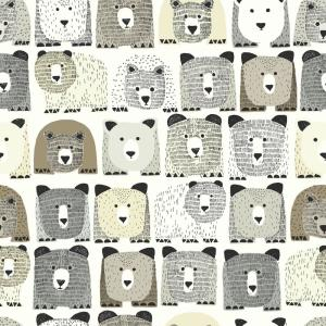 DwellStudio Baby and Kids Bears Sidewall Wallpaper