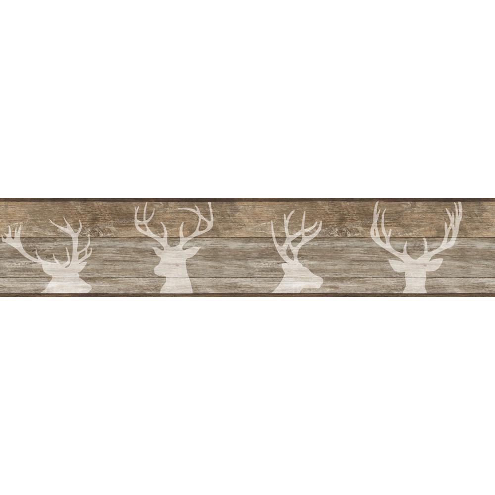 Deer Silhouette Wallpaper Border