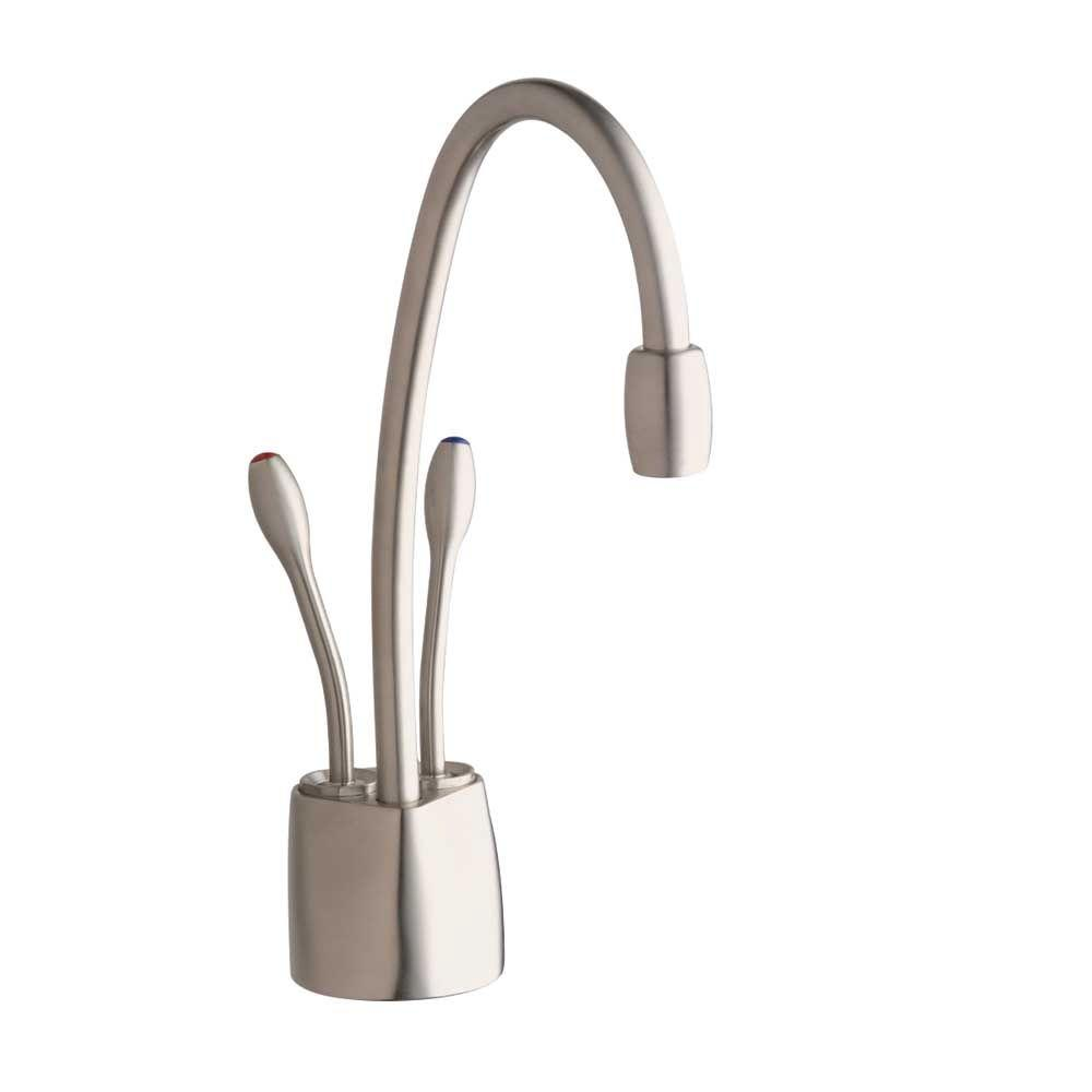 InSinkErator Indulge Contemporary 2-Handle Instant Hot and Cold Water Dispenser Faucet in Satin Nickel