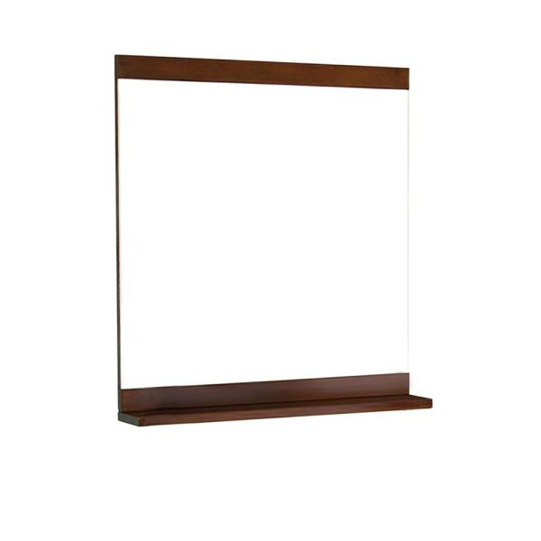 Aster 32 in. W x 33 in. H Framed Rectangular Bathroom Vanity Mirror in BROWN