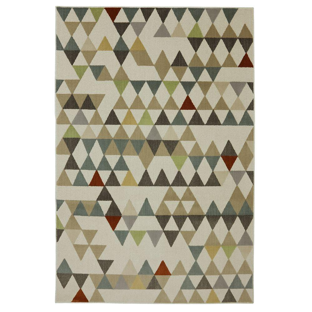 Mohawk Home Diamond Patch Linen 5 ft. x 7 ft. Area Rug