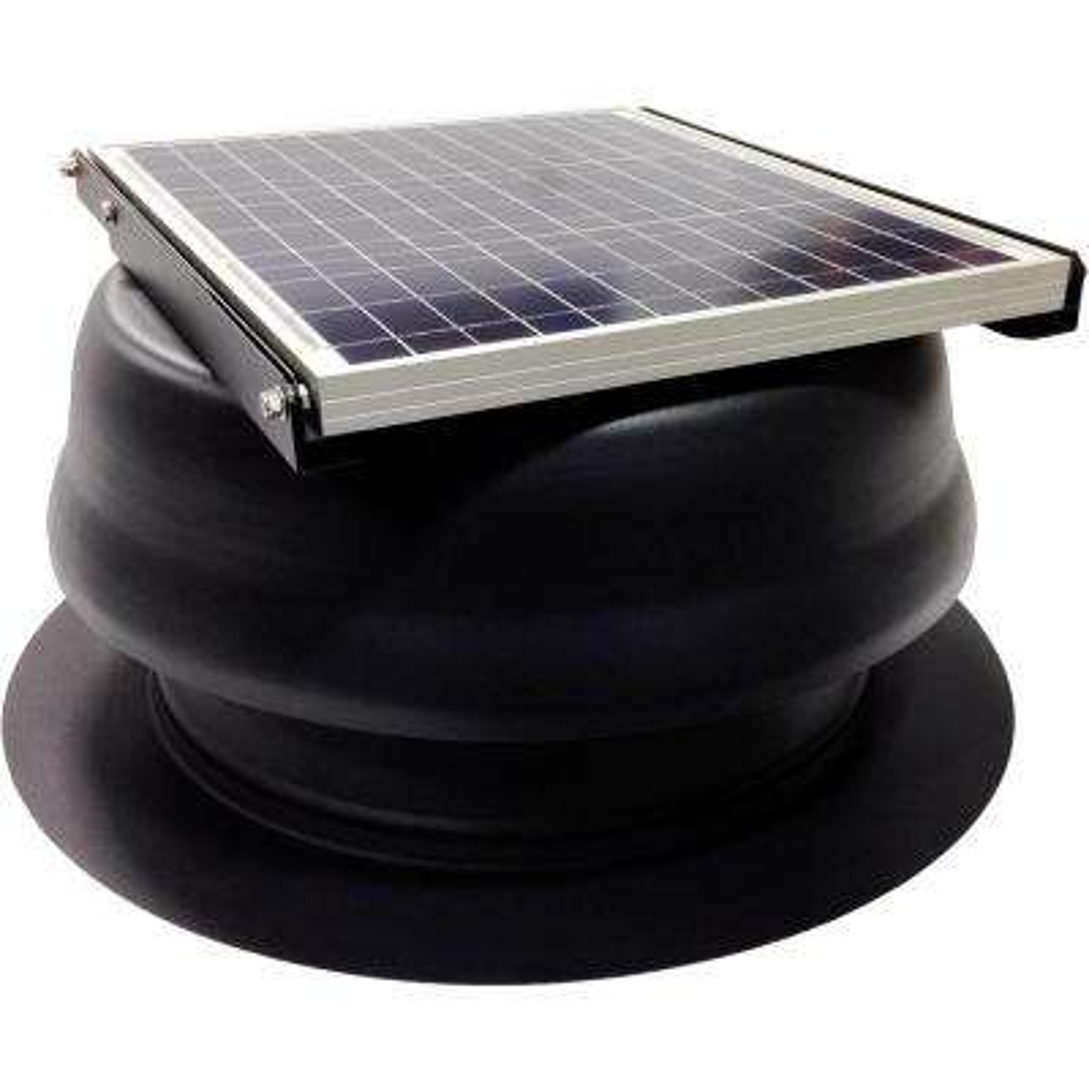 30 Watt 1650 CFM Black Solar Powered Attic Fan