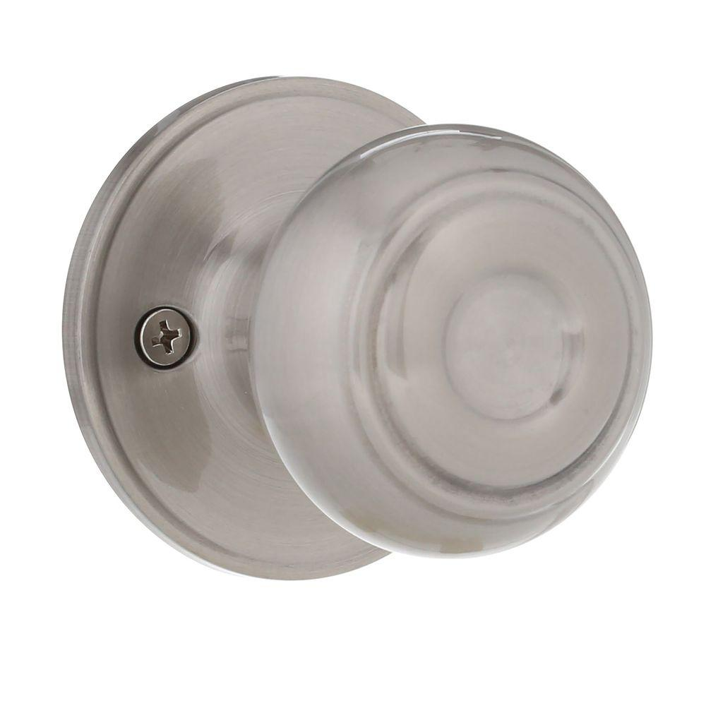 N Fancy Mushroom Satin Nickel Dummy Door Knob