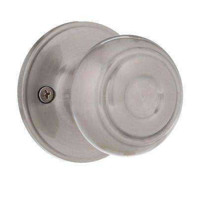 Fancy Mushroom Satin Nickel Dummy Door Knob