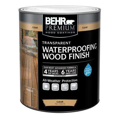 1 Qt. Clear Transparent Waterproofing Wood Finish