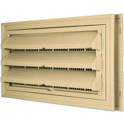 9-3/8 in. x 17-1/2 in. Foundation Vent Kit w/ Trim Ring and Optional Fixed Louvers (Molded Screen) #045 Sandstone Maple