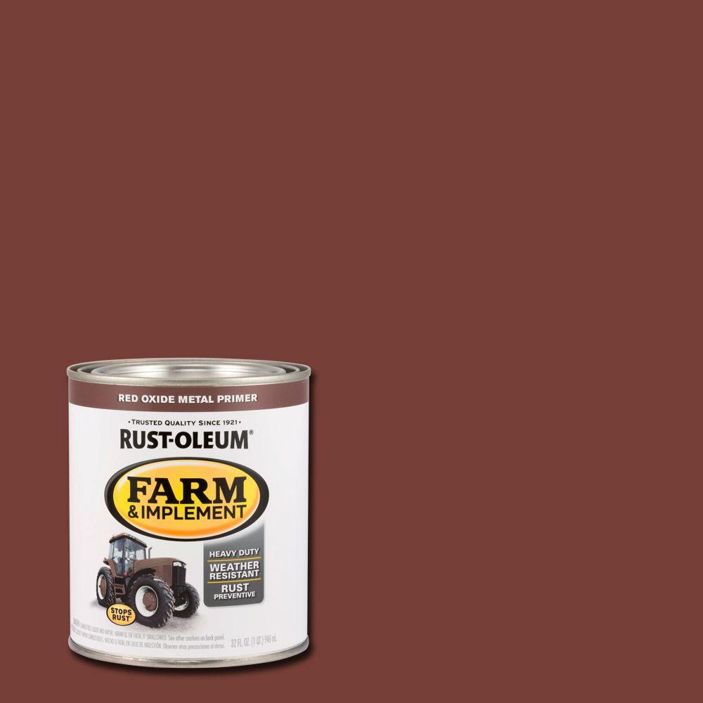 1-qt. Farm and Implement Red Oxide Metal Primer Paint (Case of