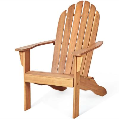 Wood Color Folding Wood Adirondack Chair