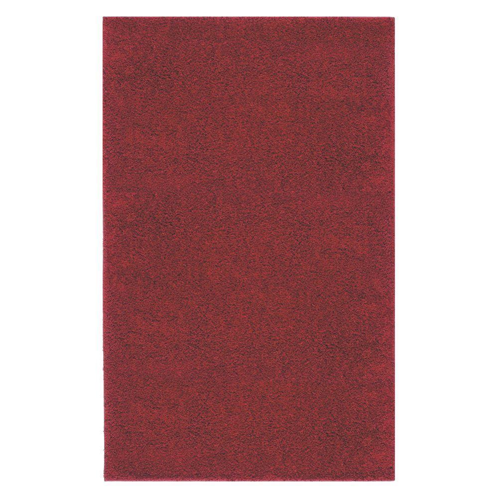 Mohawk Home Frise Shag Crimson 2 ft. x 3 ft. 4 in. Accent Rug