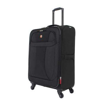 24 in. Lightweight Spinner Suitcase in Black