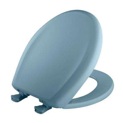 Slow Close STA-TITE Round Closed Front Toilet Seat in Twilight Blue