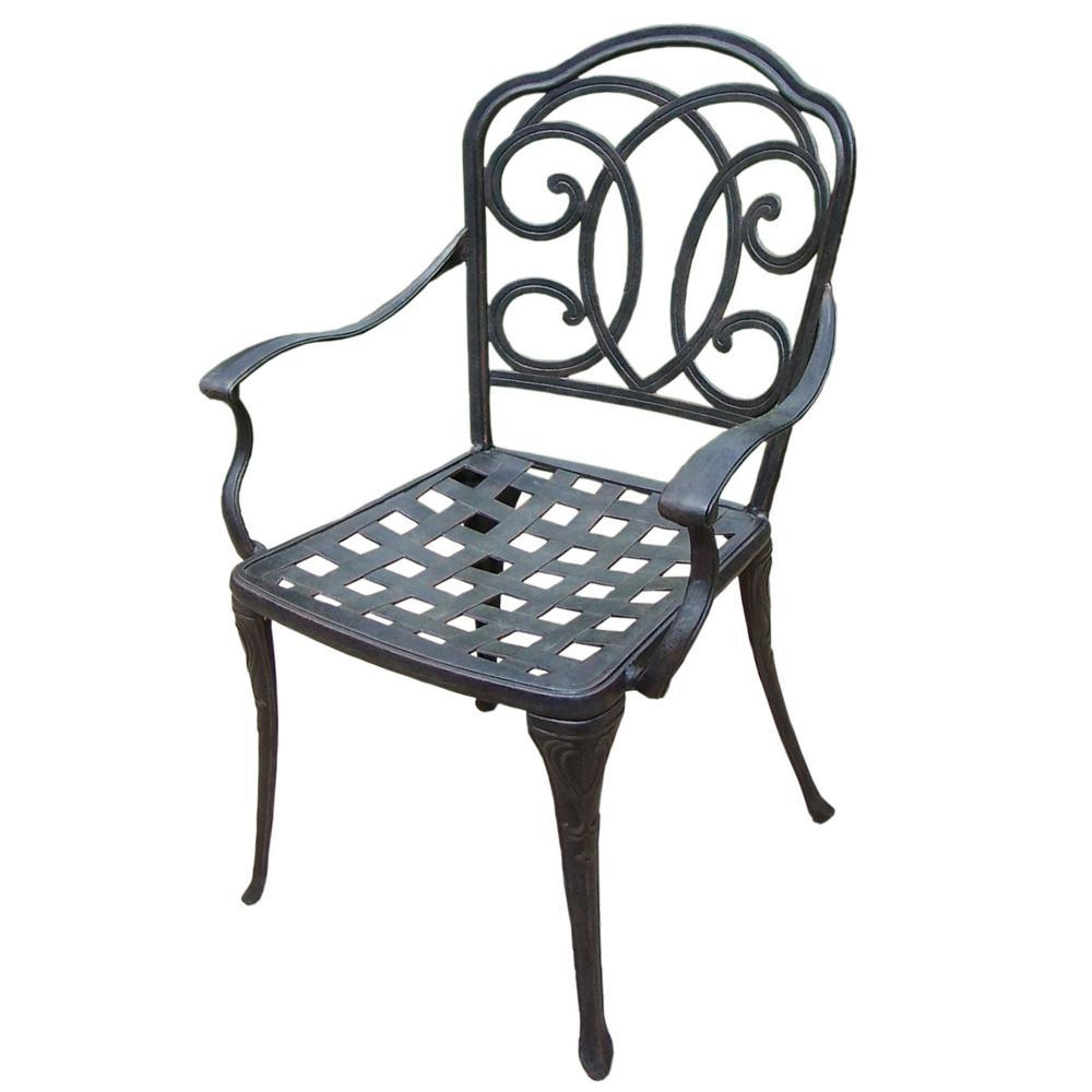Internet #206805918. Berkley Stationary Cast Aluminum Outdoor Dining Chair