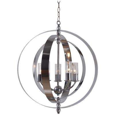 Jaquelyn 5-Light Chrome Chandelier with Clear Shade