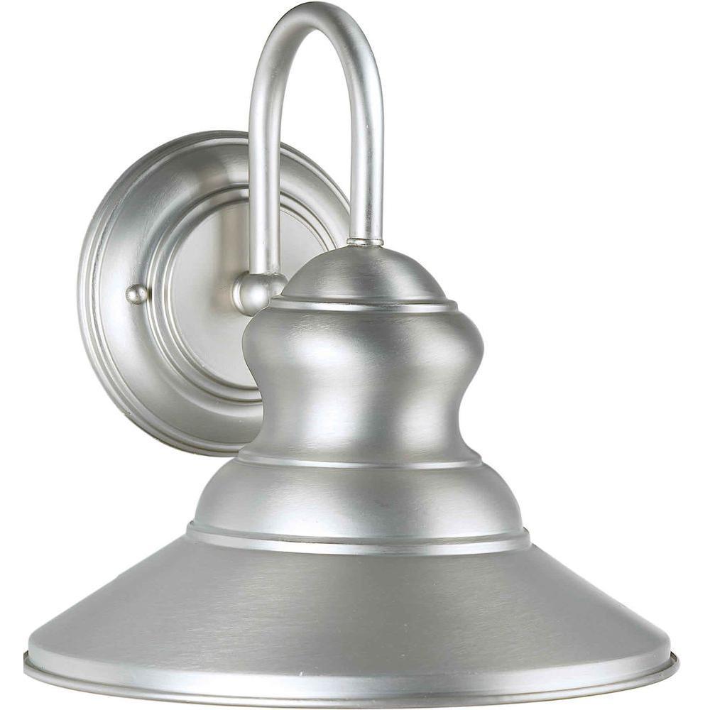Talista 1-Light Outdoor Brushed Nickel Wall Lantern