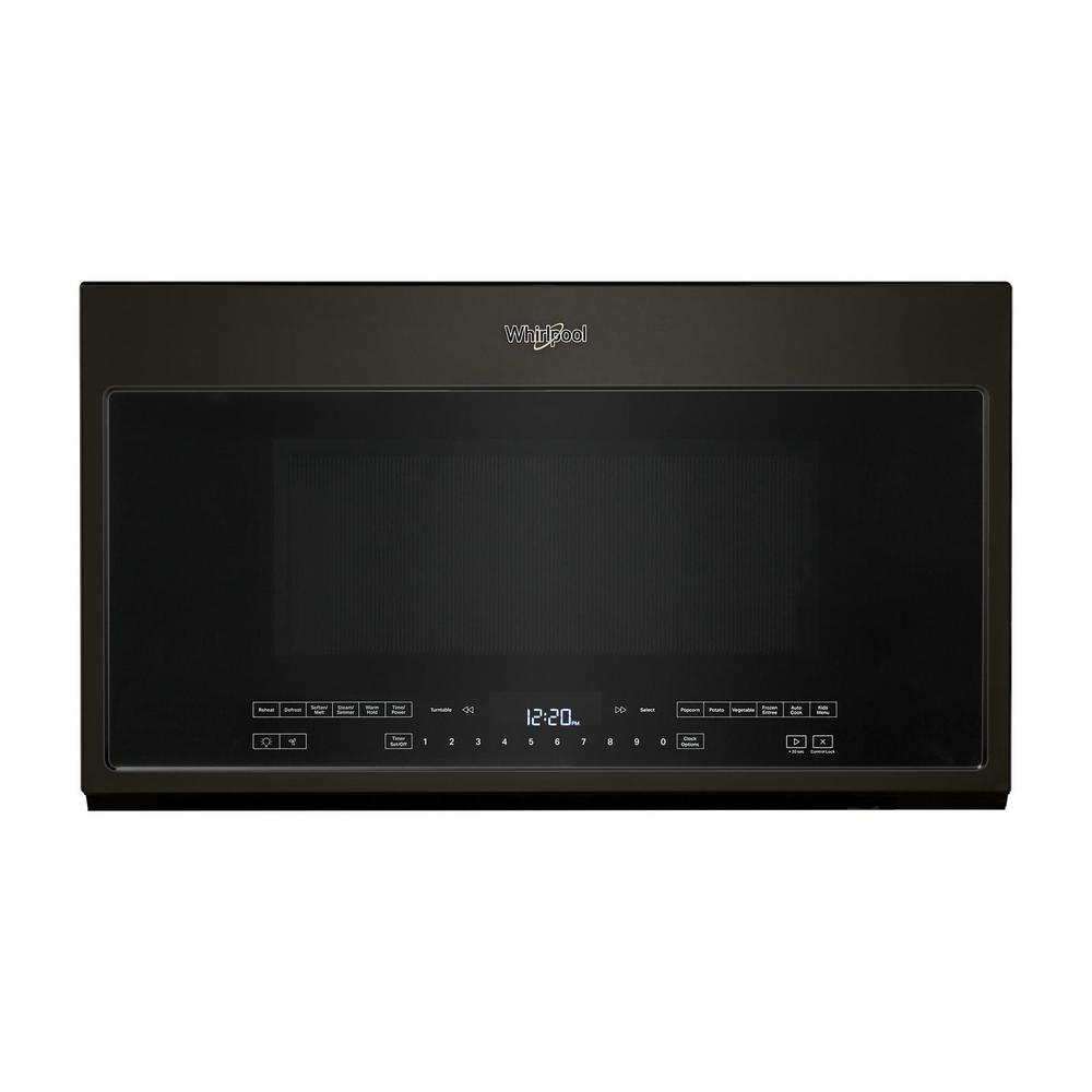 Whirlpool 2.1 cu. ft. Over the Range Microwave in Black Stainless