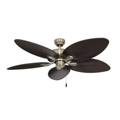 Tortola 52 in. Aged Brass Ceiling Fan