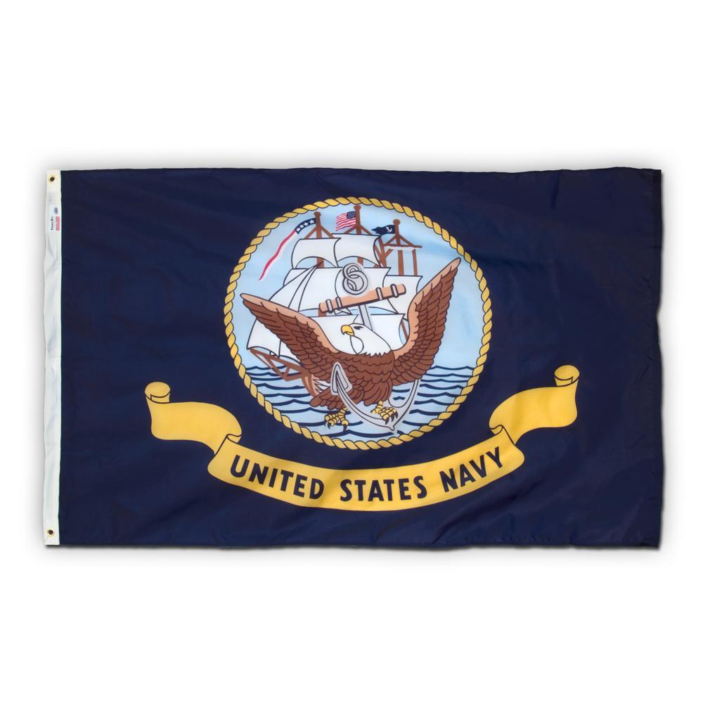 3 ft. x 5 ft. Nylon Navy Military Flag