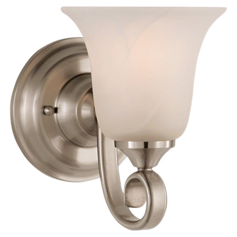 Vista Brushed Steel Vanity Light