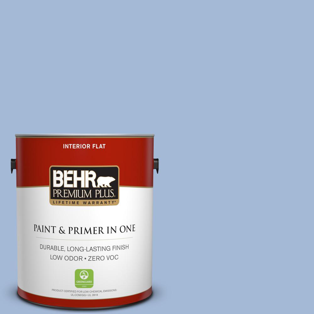 BEHR Premium Plus 1-gal. #M530-3 Perennial Blue Flat Interior Paint
