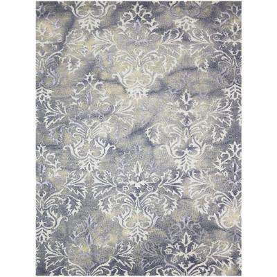 Kannen Steel Gray 5 ft. x 8 ft. Rectangle Area Rug