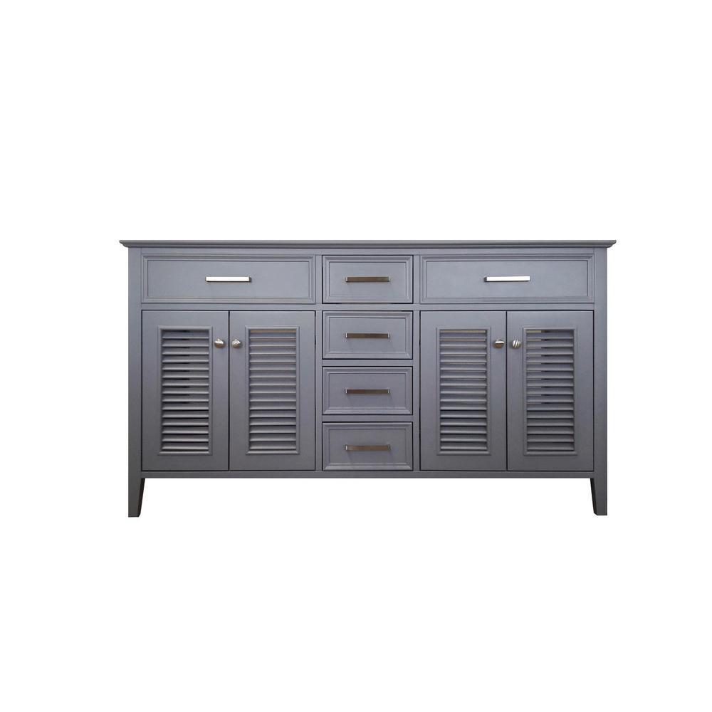 Kensington 61 in. Bath Vanity Cabinet Only in Grey
