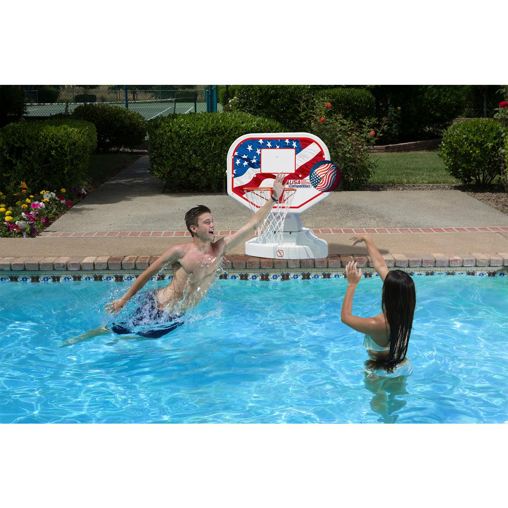 Poolmaster usa competition swimming pool basketball game - Usa swimming build a pool handbook ...