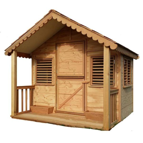 6 ft. x 6 ft. Little Alexandra's Cottage Deluxe Playhouse Kit with Covered Front Porch