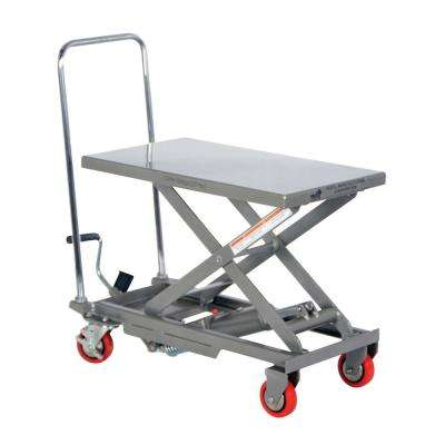 220 lbs. 15.75 in. x 27 in. Aluminum Elevating Cart