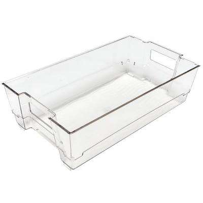 2-Piece Stackable Wide Storage Organizer Bin
