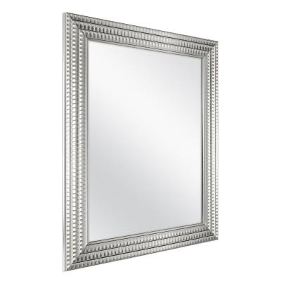 22 in. W x 27 in. H Framed Rectangular Anti-Fog Bathroom Vanity Mirror in Silver