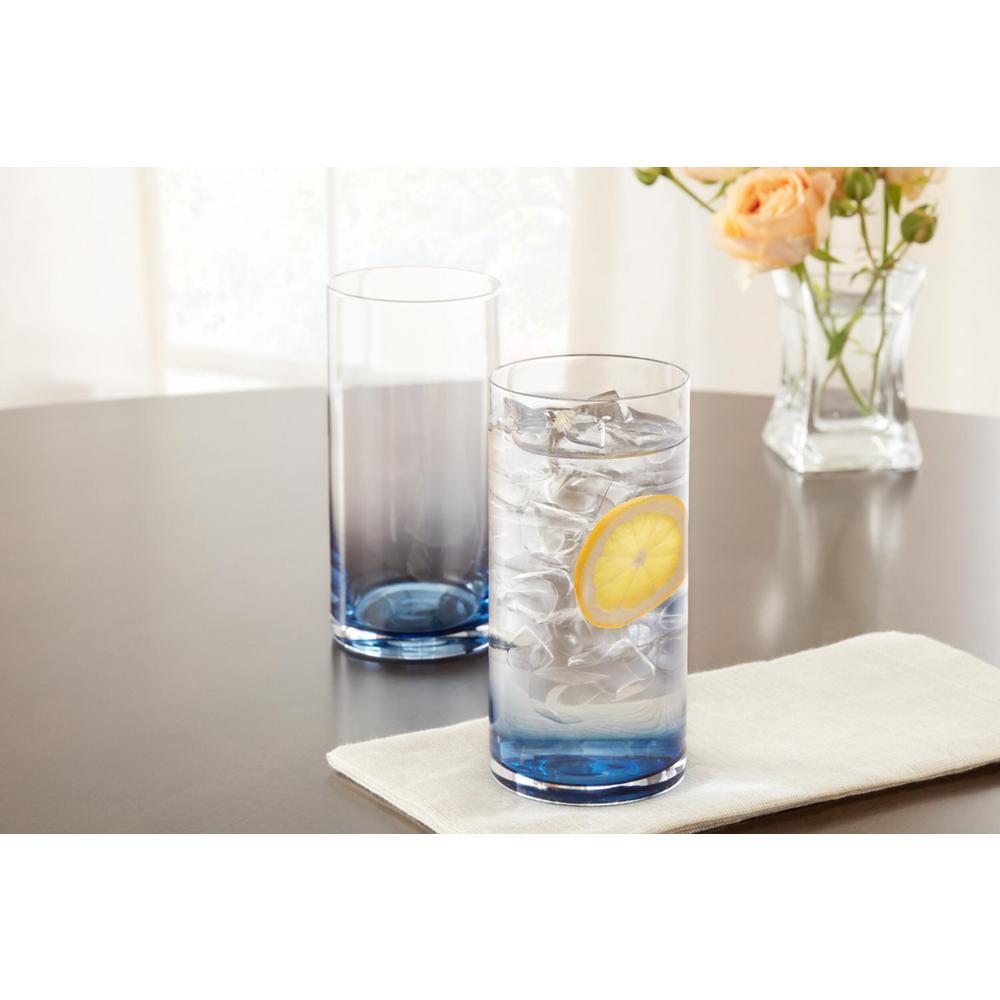 Skylar 19.8 oz. Midnight Blue Ombre Highball Glasses (Set of 4)