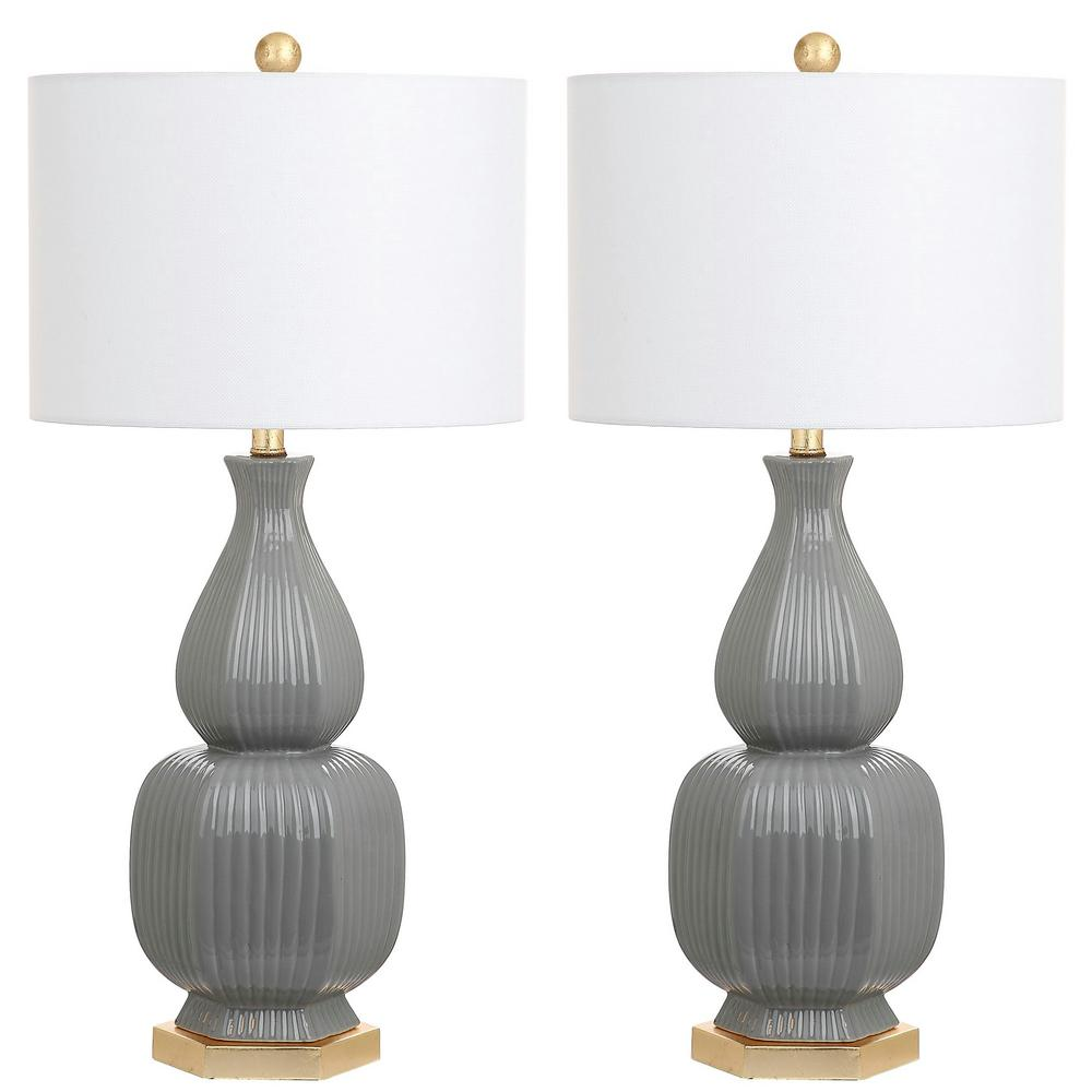Cleo 31.5 in. Grey Table Lamp (Set of 2)