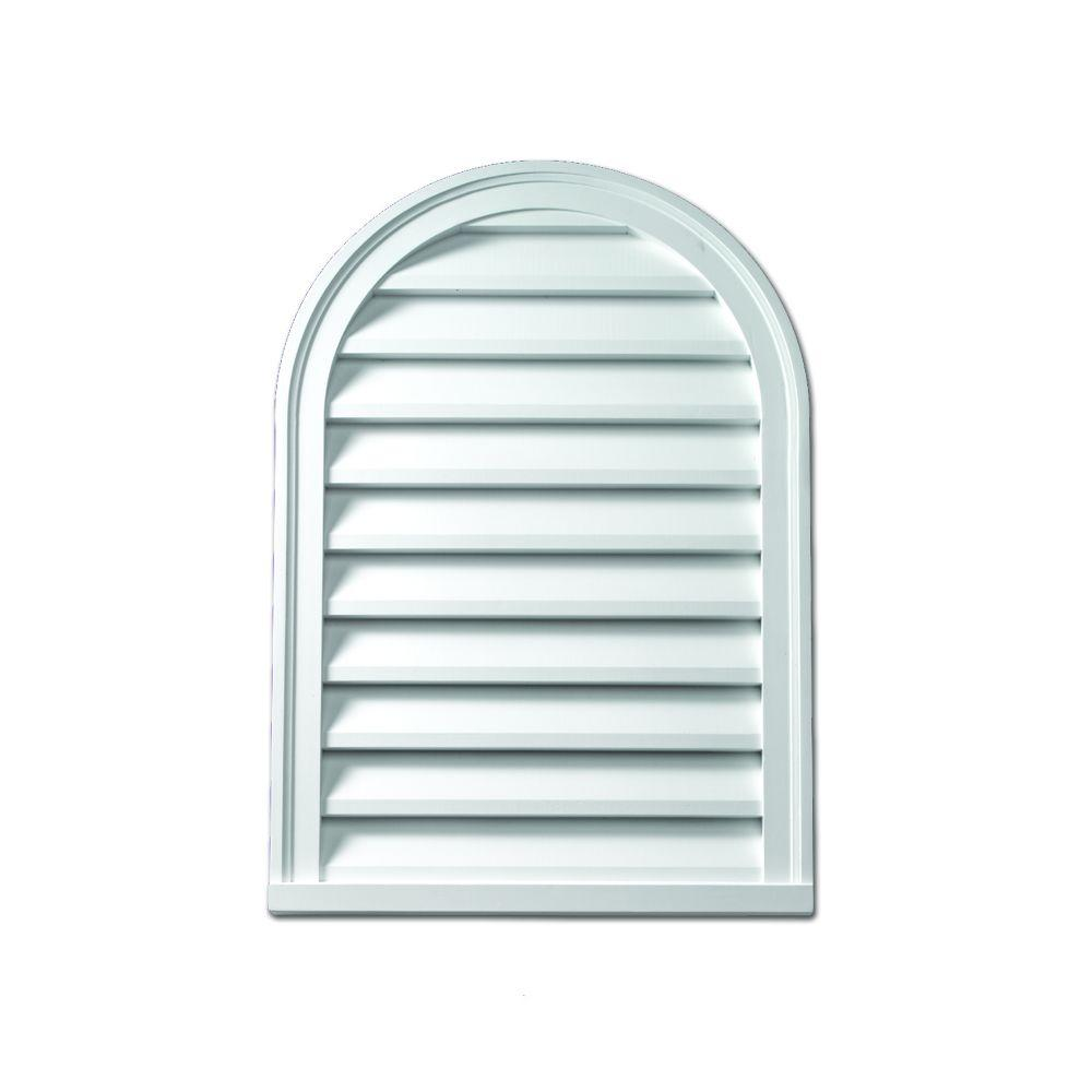 16 in. x 36 in. 2 in. Polyurethane Functional Cathedral Louver